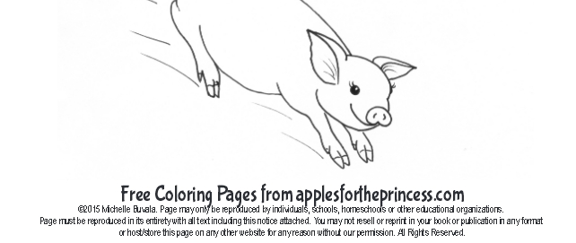 a sample of a free coloring page for kids